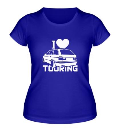 Женская футболка I love touring
