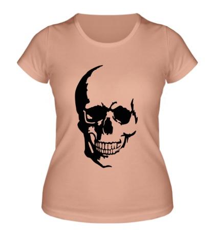Женская футболка Улыбчивый череп