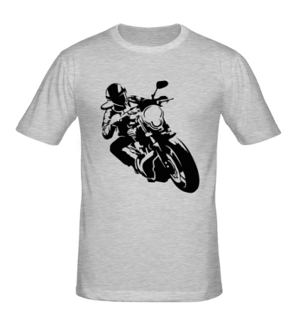 Мужская футболка Байкер на мото