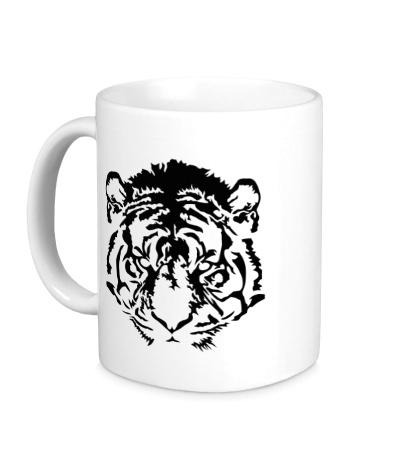 Керамическая кружка Eyes of the tiger