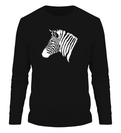 Мужской лонгслив Голова зебры
