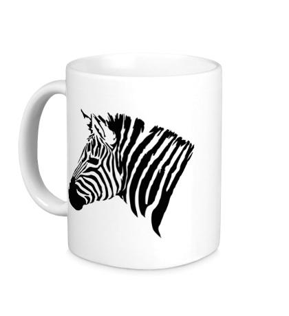 Керамическая кружка Голова зебры