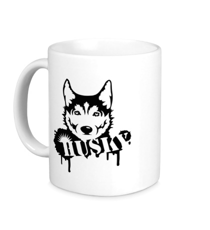 Керамическая кружка Husky Dog