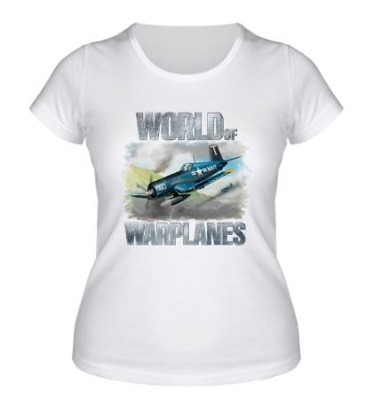 Женская футболка World of Warplanes Poster