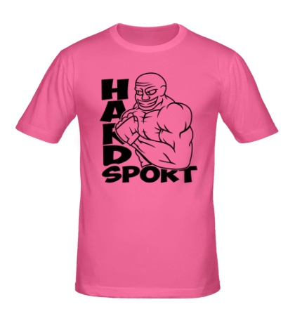 Мужская футболка Hard sport