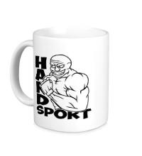 Керамическая кружка Hard sport