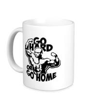 Керамическая кружка Go hard or go home