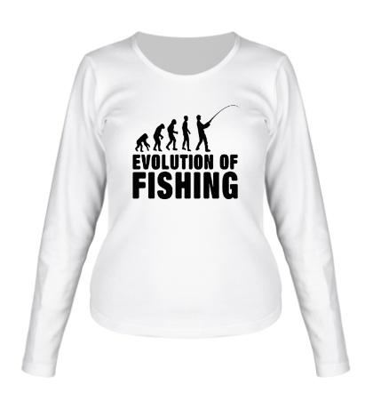 Женский лонгслив Evolution of Fishing