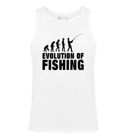 Мужская майка Evolution of Fishing