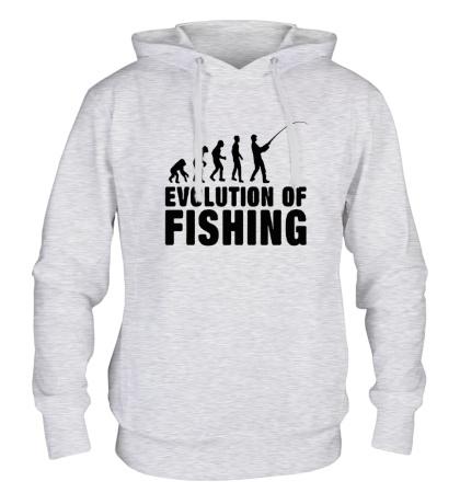 Толстовка с капюшоном Evolution of Fishing