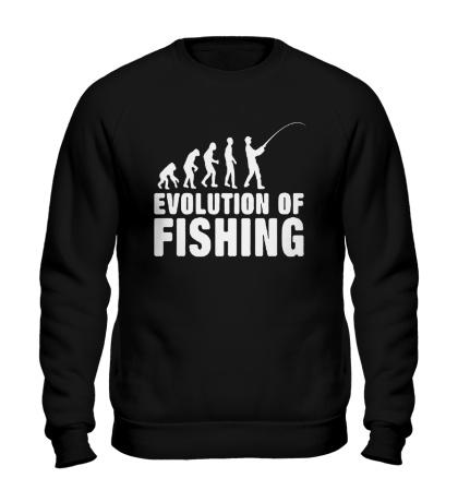 Свитшот Evolution of Fishing