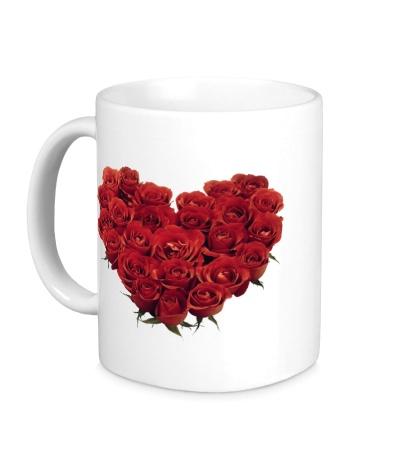 Керамическая кружка Букет роз