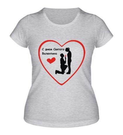 Женская футболка С днем Святого Валентина