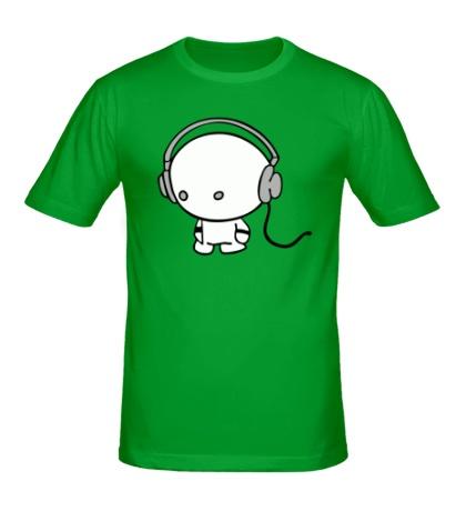 Мужская футболка «В наушниках»