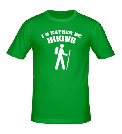 Мужская футболка Id rather be hiking