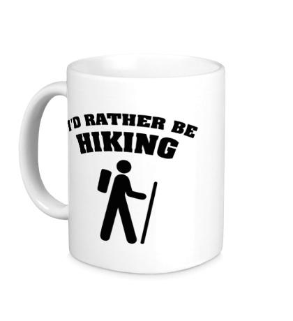 Керамическая кружка Id rather be hiking