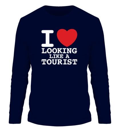Мужской лонгслив I Love Looking Like A Tourist