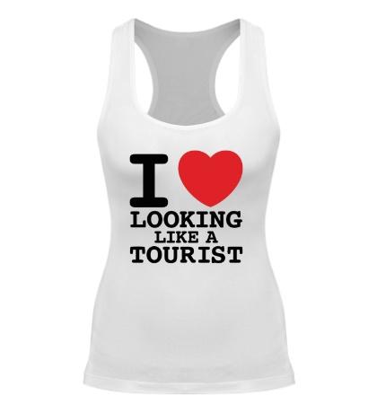 Женская борцовка I Love Looking Like A Tourist