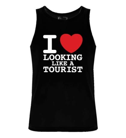 Мужская майка I Love Looking Like A Tourist
