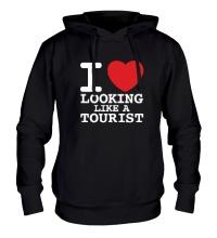 Толстовка с капюшоном I Love Looking Like A Tourist