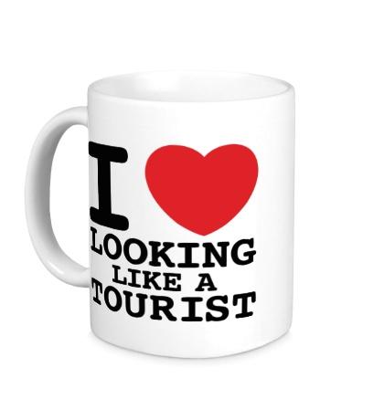 Керамическая кружка I Love Looking Like A Tourist