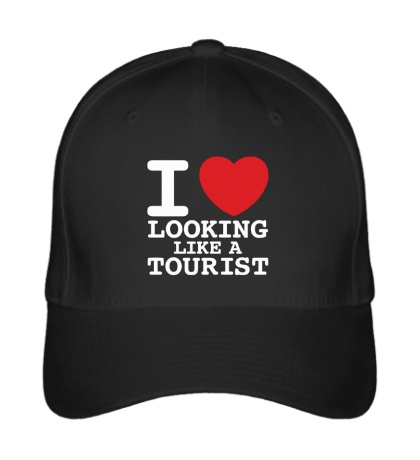 Бейсболка I Love Looking Like A Tourist