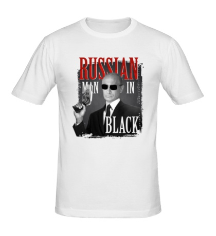 Мужская футболка Russian man in black