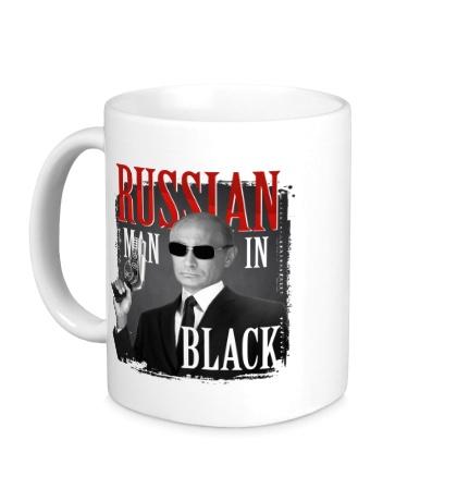 Керамическая кружка Russian man in black