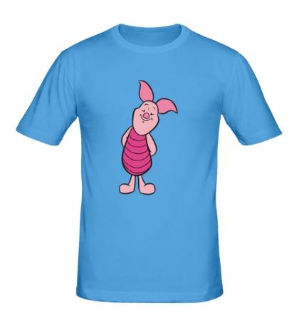 Мужская футболка Довольный Пятачок