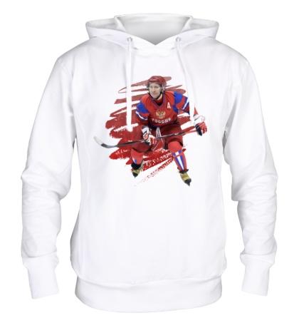 Толстовка с капюшоном Путин играет в хоккей