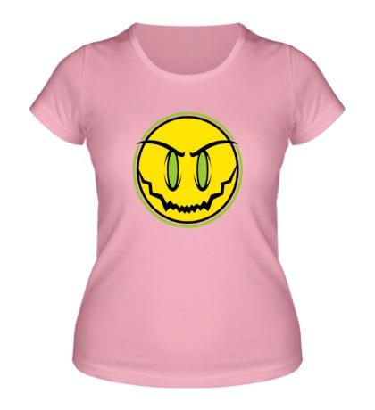 Женская футболка Зловещий смайл