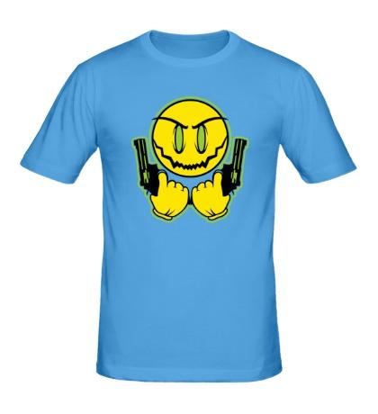 Мужская футболка Смайл-гангстер