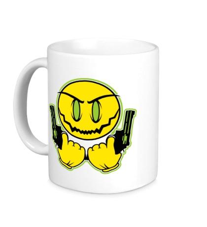 Керамическая кружка Смайл-гангстер