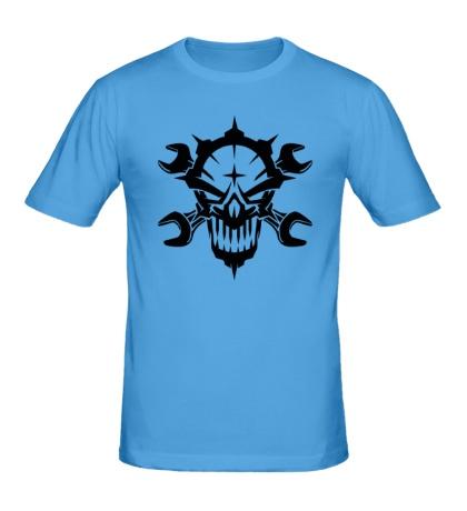 Мужская футболка Череп механика