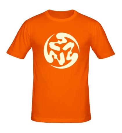 Мужская футболка Символ сюрикена, свет