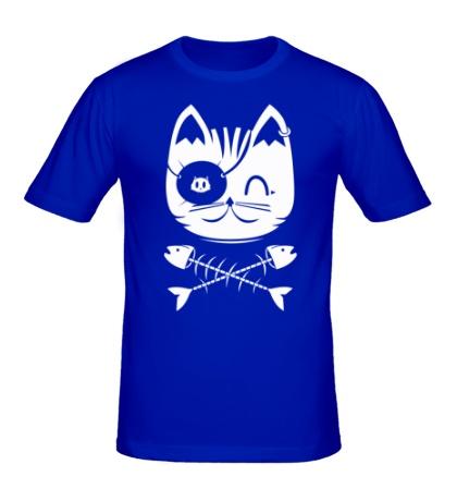 Мужская футболка Кошка пират