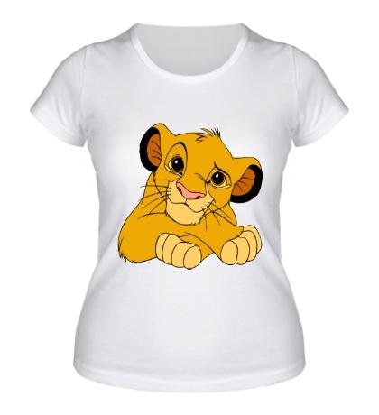Женская футболка Маленький Симба