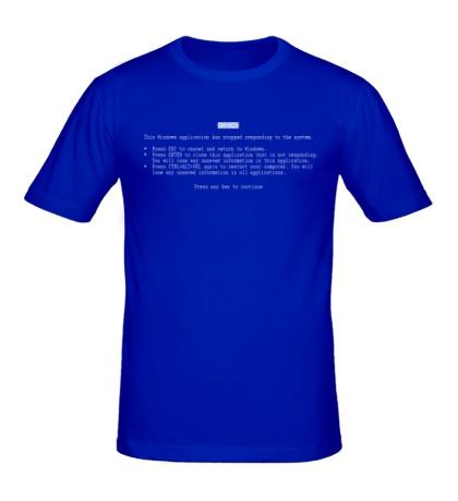 Мужская футболка Синий экран смерти