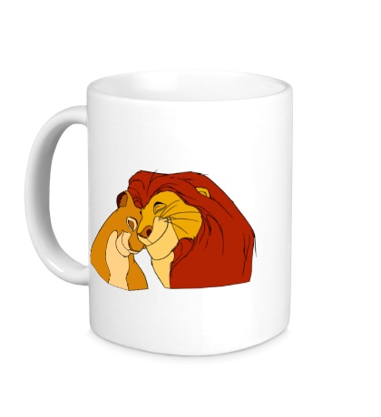 Керамическая кружка Король Лев