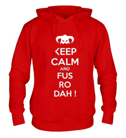 Толстовка с капюшоном Keep Calm & Fus Ro Dah