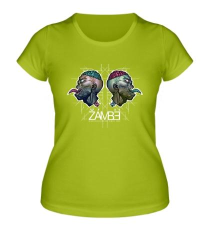 Женская футболка Черепа зомби