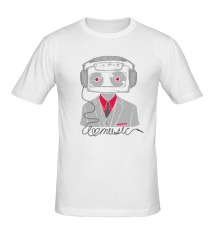 Мужская футболка Love music