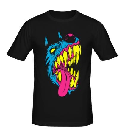 Мужская футболка Злая собака