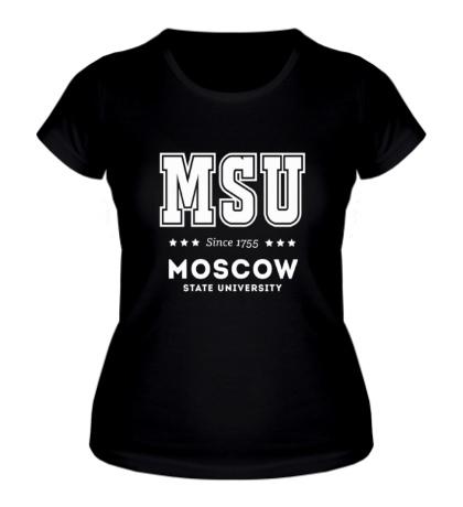 Женская футболка МГУ Университет