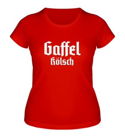 Женская футболка Gaffel Kolsch Beer