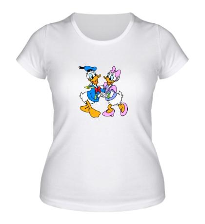 Женская футболка Дональд и Дейси