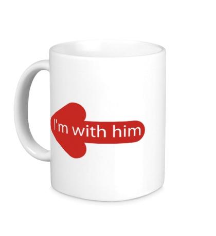 Керамическая кружка Im with him