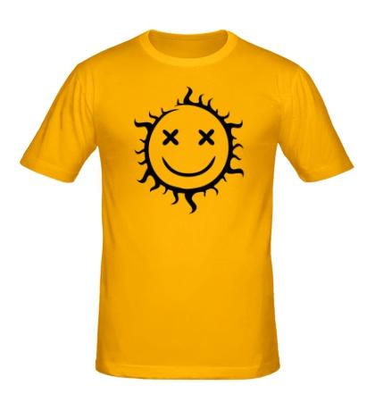 Мужская футболка Позитивное солнце