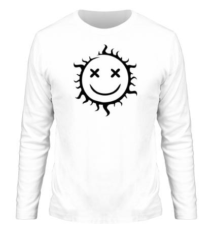 Мужской лонгслив Позитивное солнце
