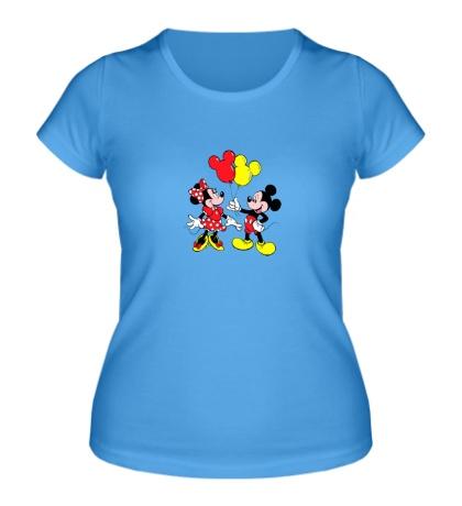 Женская футболка Микки и Мини